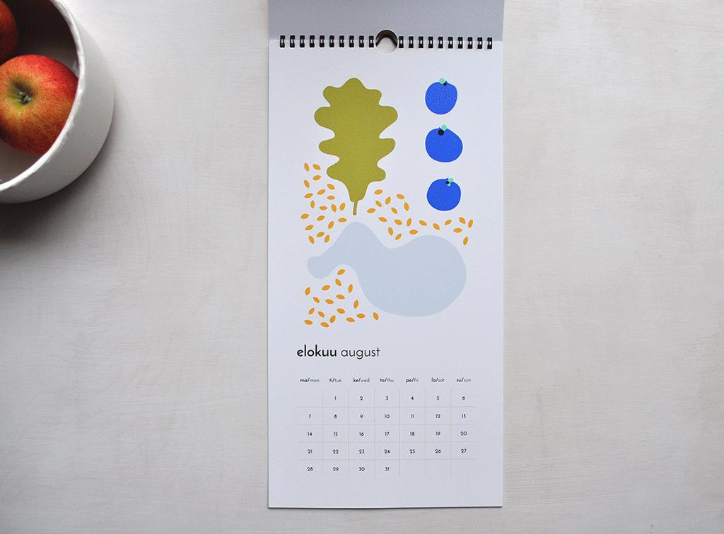 Illustrated 2017 calendar design by Camille Romano