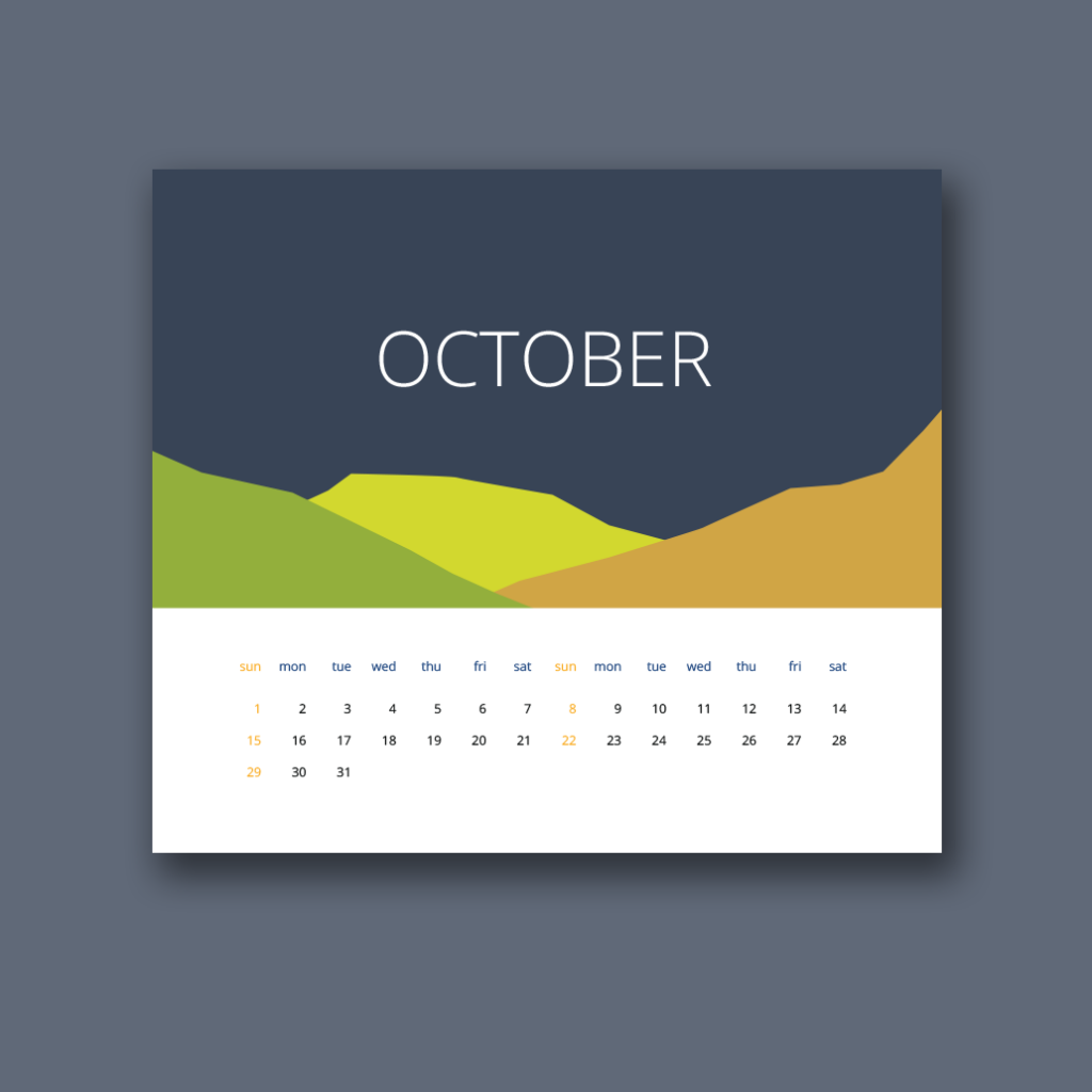Flat Calendar 2017 design by Dariia Romanova