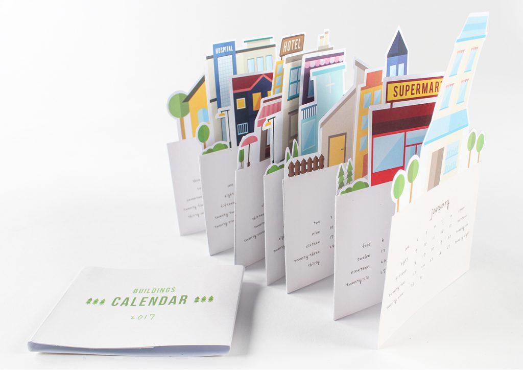 The Building 2017 calendar design by G Sze Mean