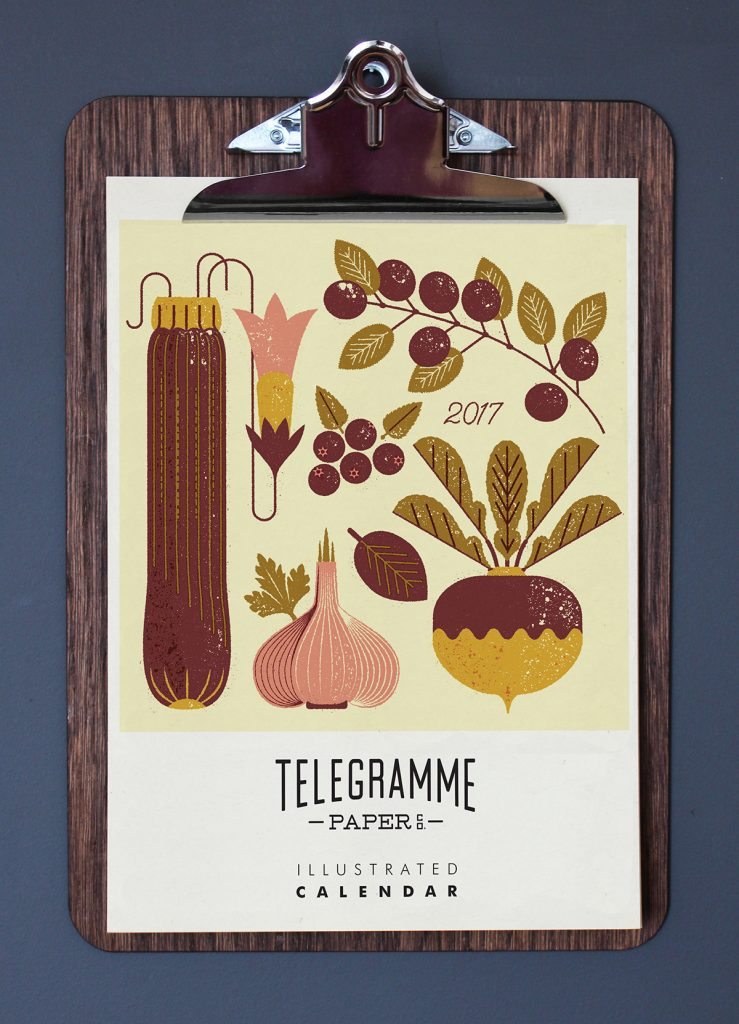 Seasonal Eats 2017 calendar design by Bobby Evans