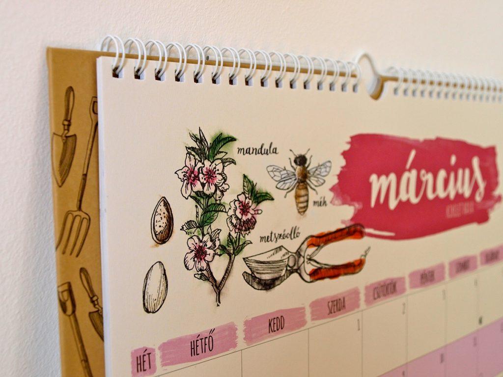 Garden Family 2017 Calendar designs by Hédi Kocsis