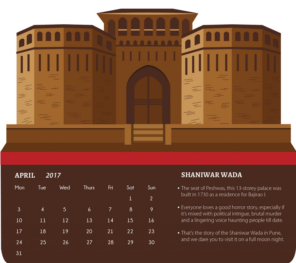 Illustrated Desk Calendar design by Aishwarya Agrawal