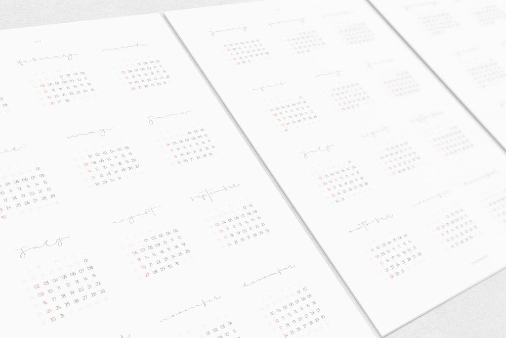 2017 calendar design by CARGONEBLINA