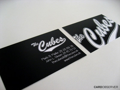 19 cool business card designs with fantastic font use you may also like reheart Gallery
