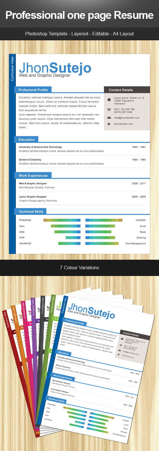 28 creative cheap resume templates resume psd template 4 - Cheap Resumes