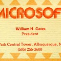 Bill Gates Business Card [President, Microsoft]