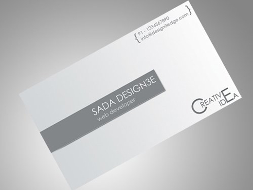 Clean corporate business card full nextdayflyers clean corporate business card full colourmoves