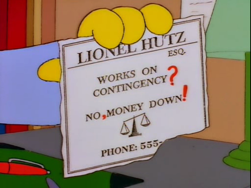 Funny cartoon business cards from 39the simpsons39 for Lionel hutz business card