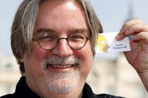 Matt Groening Business Card (Creator of 'The Simpsons')