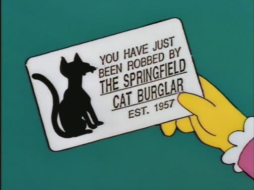 Springfield Cat Burglar Business Card (The Simpsons)