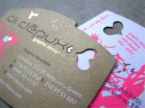 The art of design 17 die cuts showcase of die cut business cards reheart Choice Image