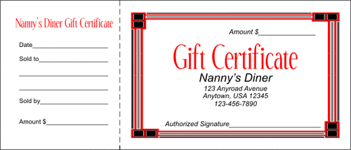 The Art of Design 16 Gift Certificates – Homemade Gift Certificate Templates