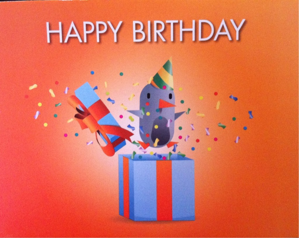 Front of Discover Card Folded Birthday Card
