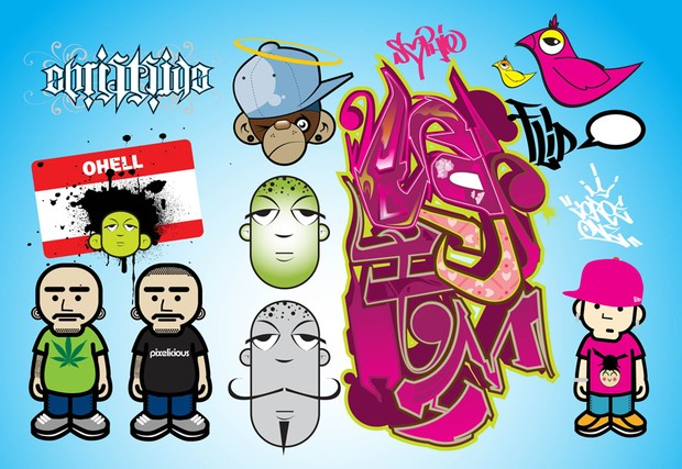 hip hop club flyers vector