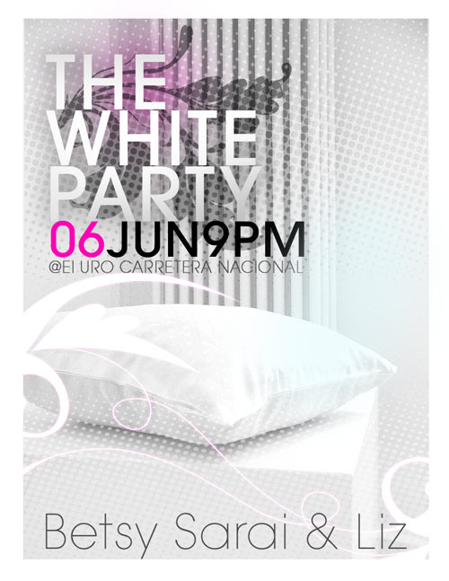 white club flyer vector