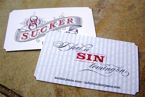 die-cut-corner business card