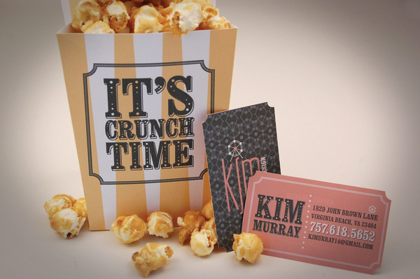 movie ticket business card