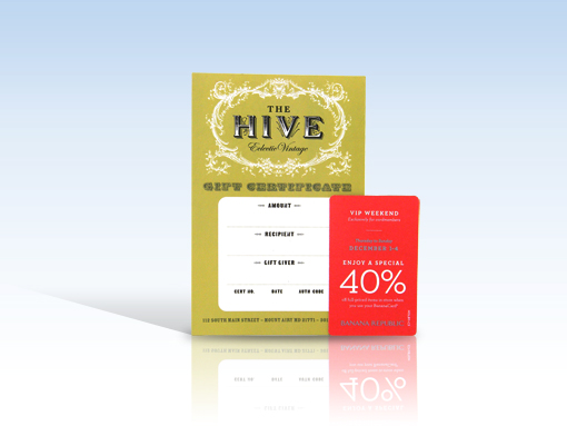 Business card with coupon