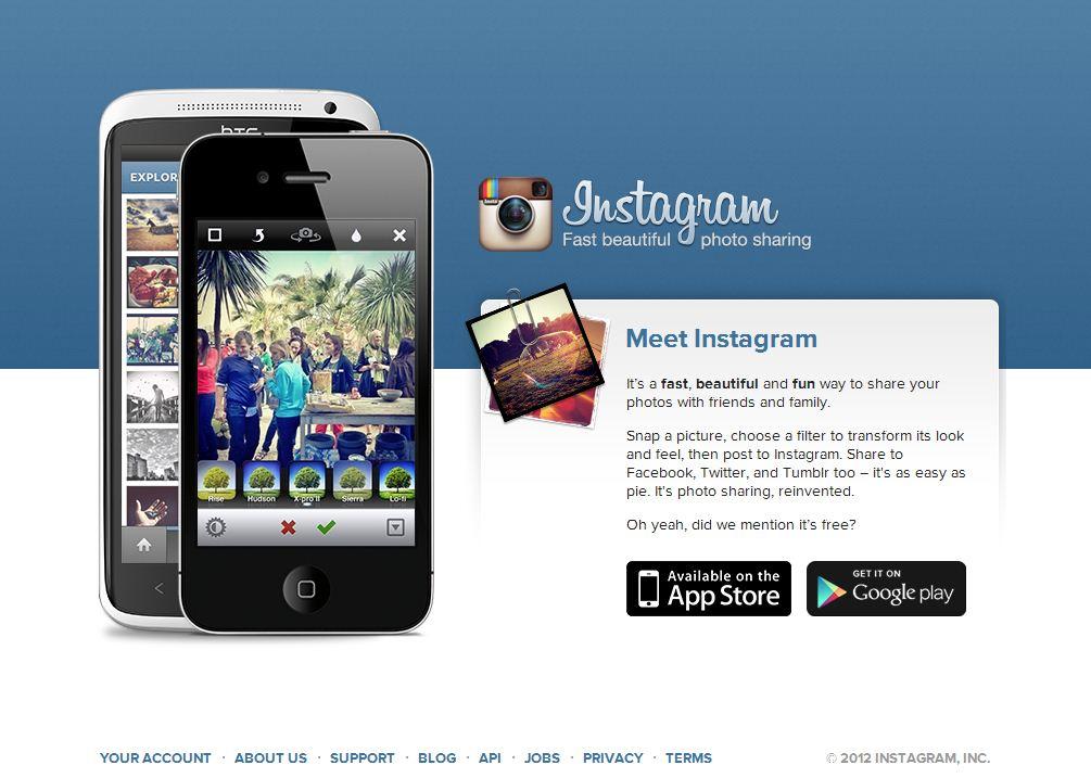 Instagram's Website