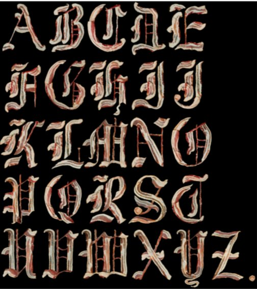 font made from bacon
