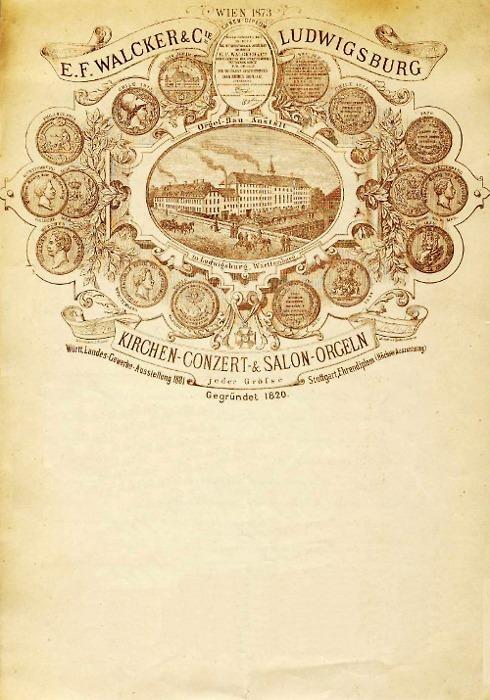Walcker Orgelbau Pipe Organs vintage letterhead