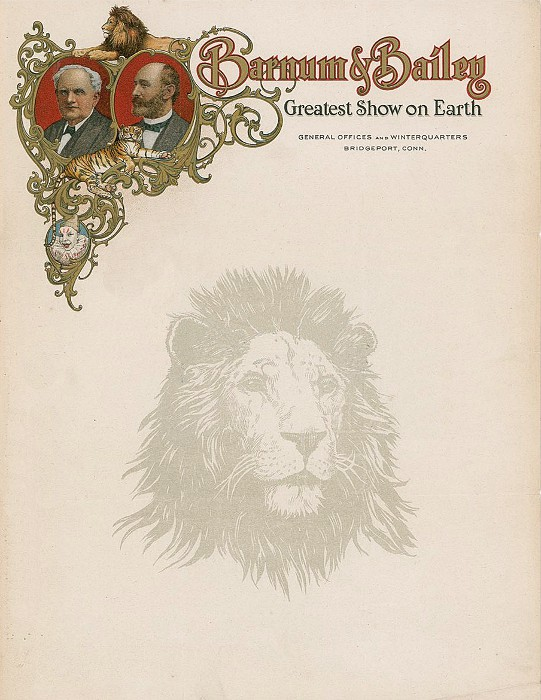 Classic and quirky vintage letterhead designs that take the barnum bailey vintage letterhead spiritdancerdesigns Choice Image