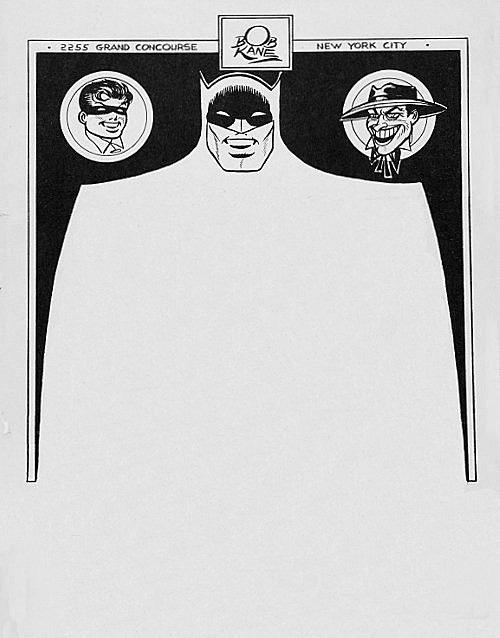 Bob Kane Batman vintage letterhead