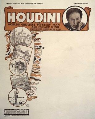 Harry Houdini antique letterhead