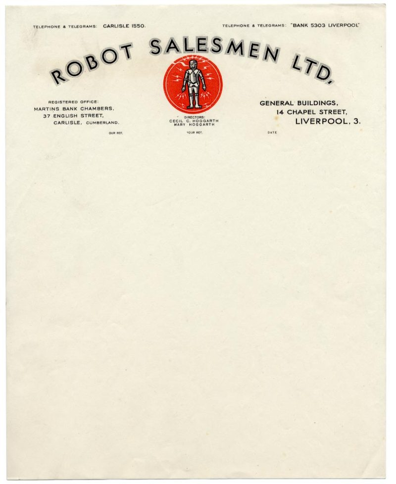 Classic and quirky vintage letterhead designs that take the robot salesmen ltd vintage letterhead spiritdancerdesigns Gallery
