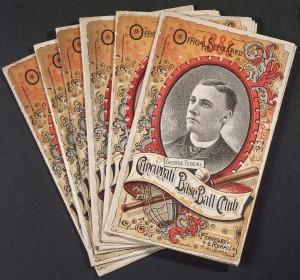 1888 Cincinnati Baseball Club Scorecard