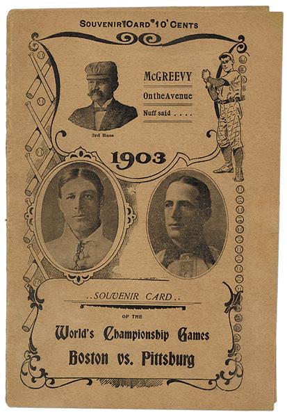1903 World Series Score card