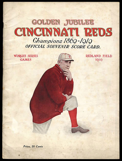 1919 World Series souvenir score card