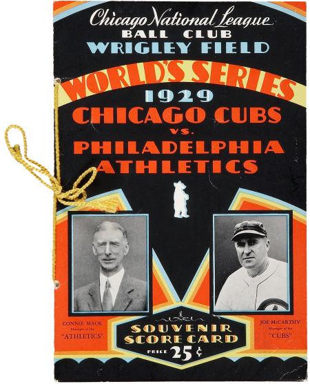 1929 World Series Program