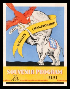 1931 World Series Program