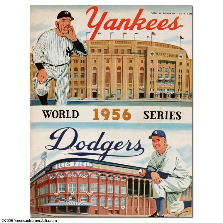 1956 World Series Program