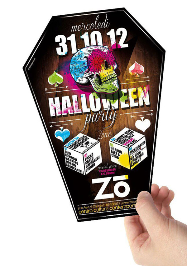 Halloween Flyer by Guiseppe Fiolo via Behance