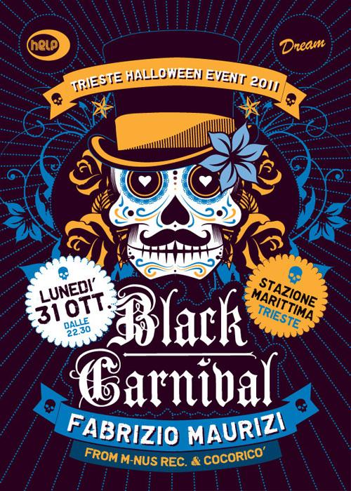 Italian Halloween Event Poster by Luca Masini via Behance