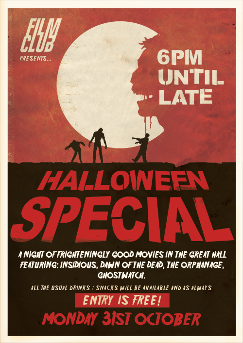 Halloween Film Club Poster by D90creative via Behance