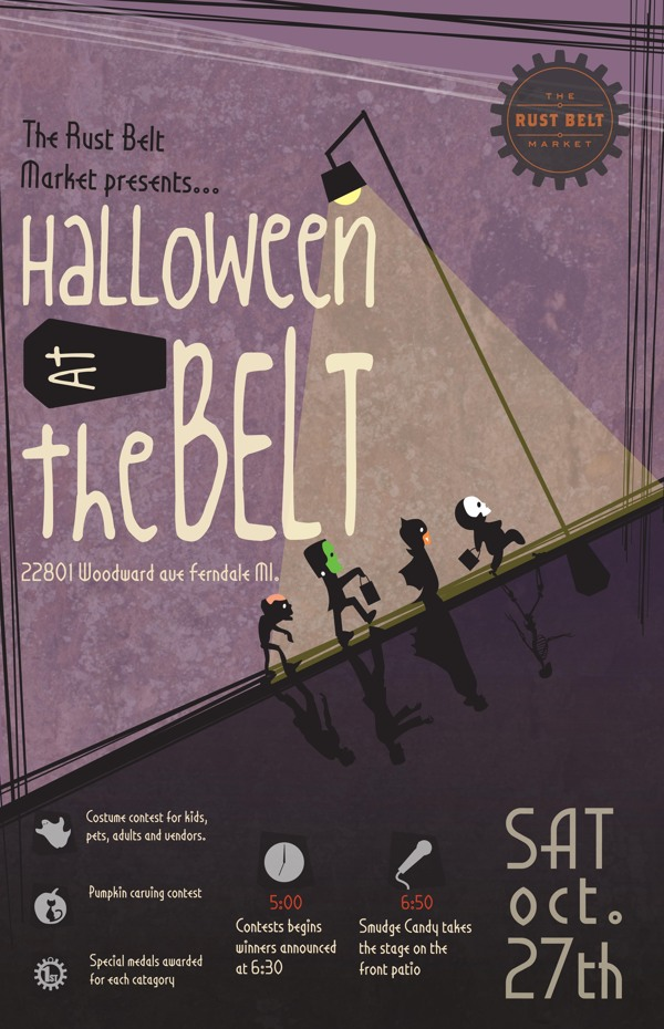 Halloween Poster by Keasa Davis via Behance