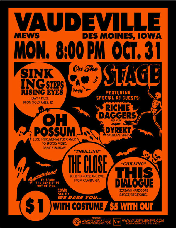 Halloween Poster by Adam Robert Haug via Behance