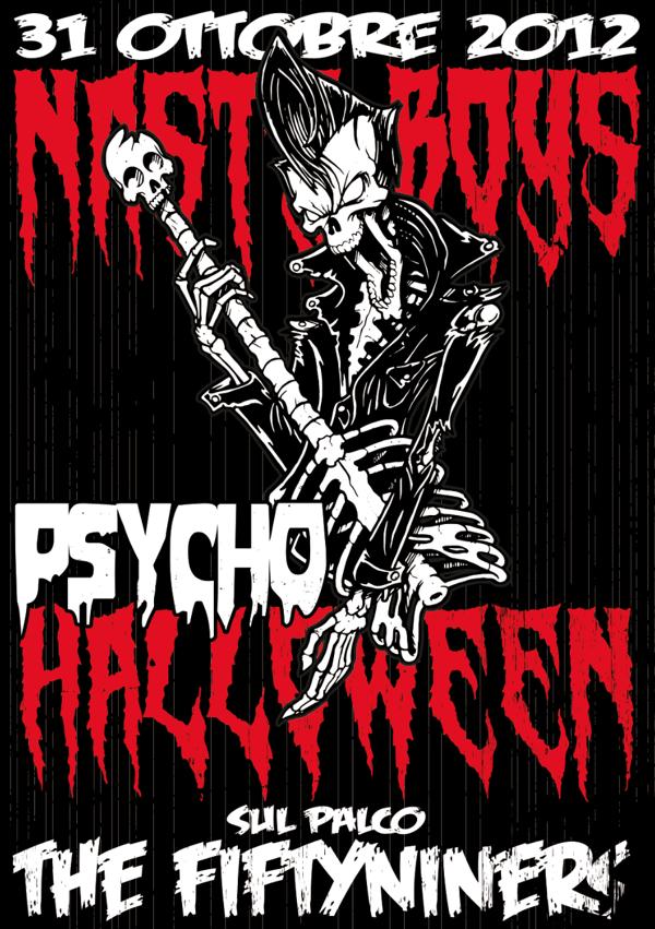 Halloween Concert Poster by Riccardo Garlato