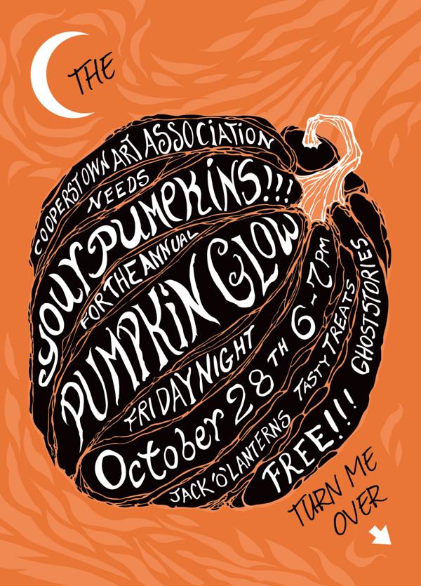 Halloween Event Postcard by Cory Anne Sharer via Behance