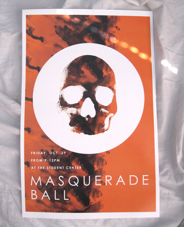 Halloween Masquerade Ball Poster by Andrew Lawandus via Behance