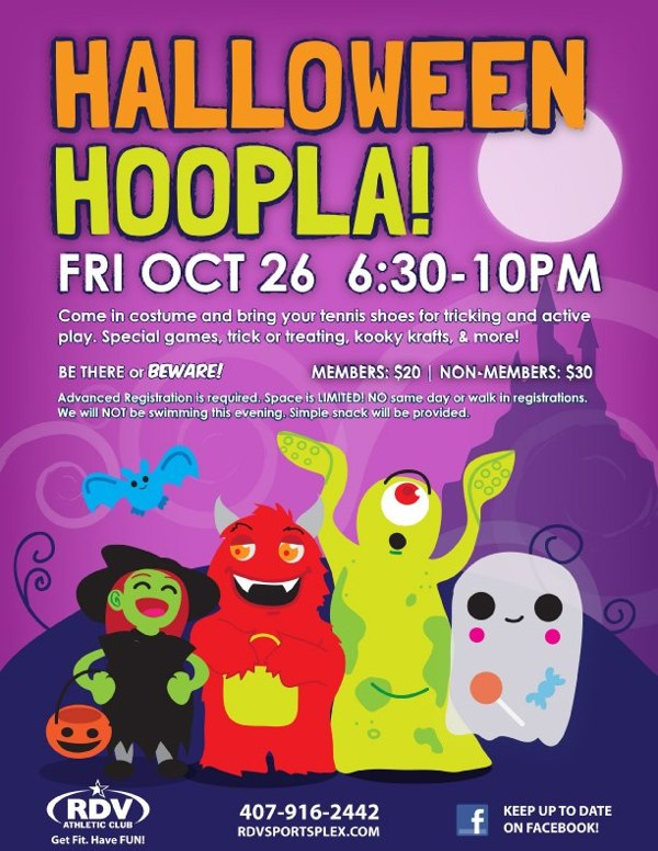 Halloween Event Flyer by Stacey Baldini via Behance