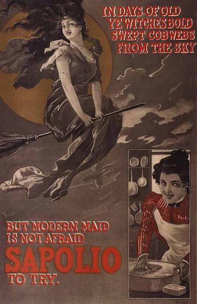 Victorian-era Halloween Advertisement for Sapolio Soap