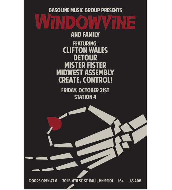 Halloween-Themed Concert Poster by Seth Epstein via Behance