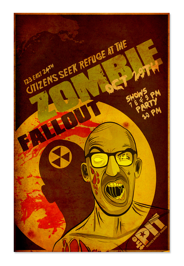 Halloween Improv Show Poster by Marc Bovino via Behance