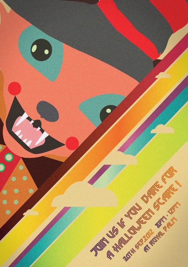 Halloween Poster Design by Samreen Farooq via Behance