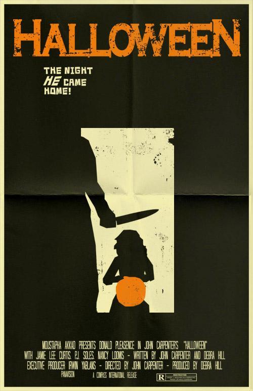 Vintage-Inspired Halloween Movie Poster by Mark Welser