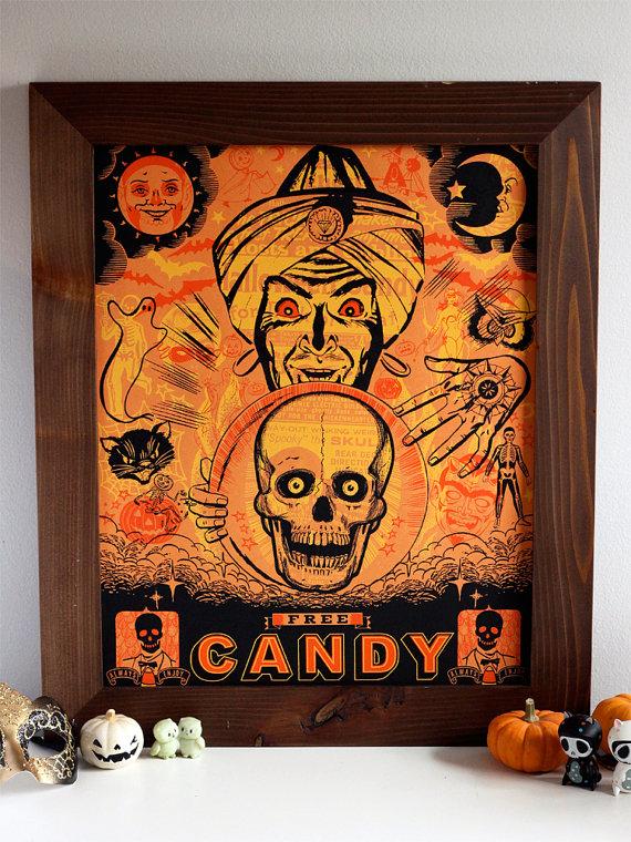 Halloween Poster by Hero Design Studio via Etsy